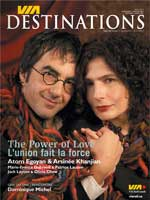 "Cover page of the magazine ""VIA Destinations"""